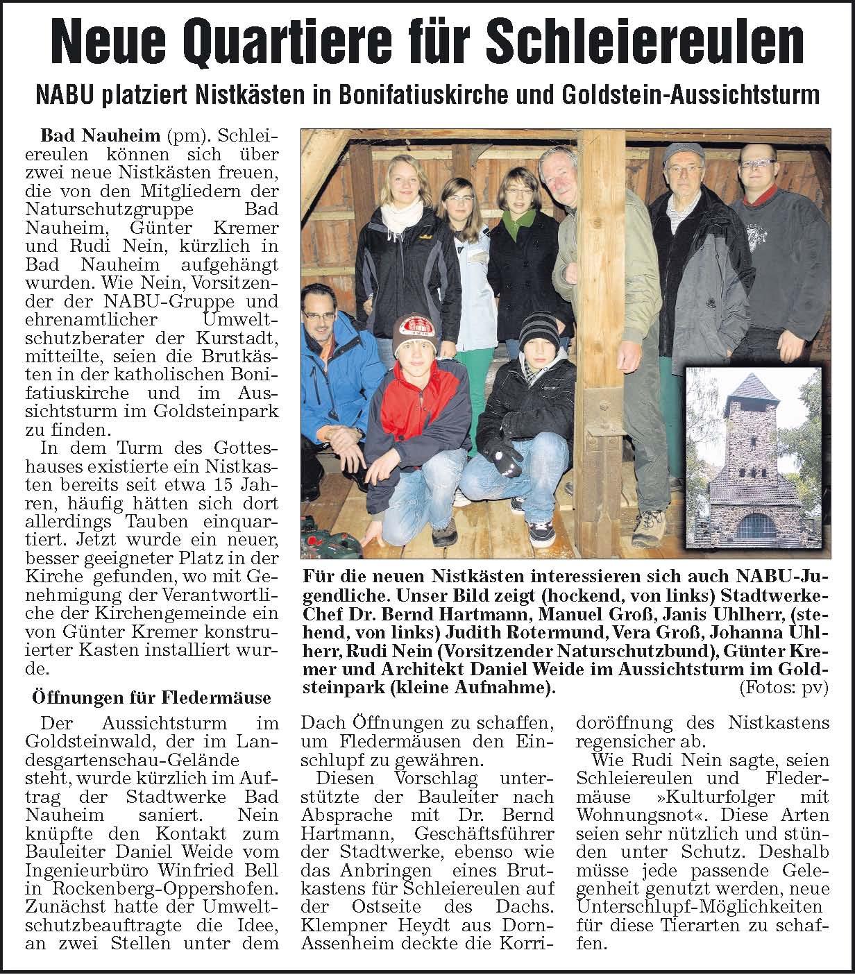 Bericht Wetterauer Zeitung 02.12.2009