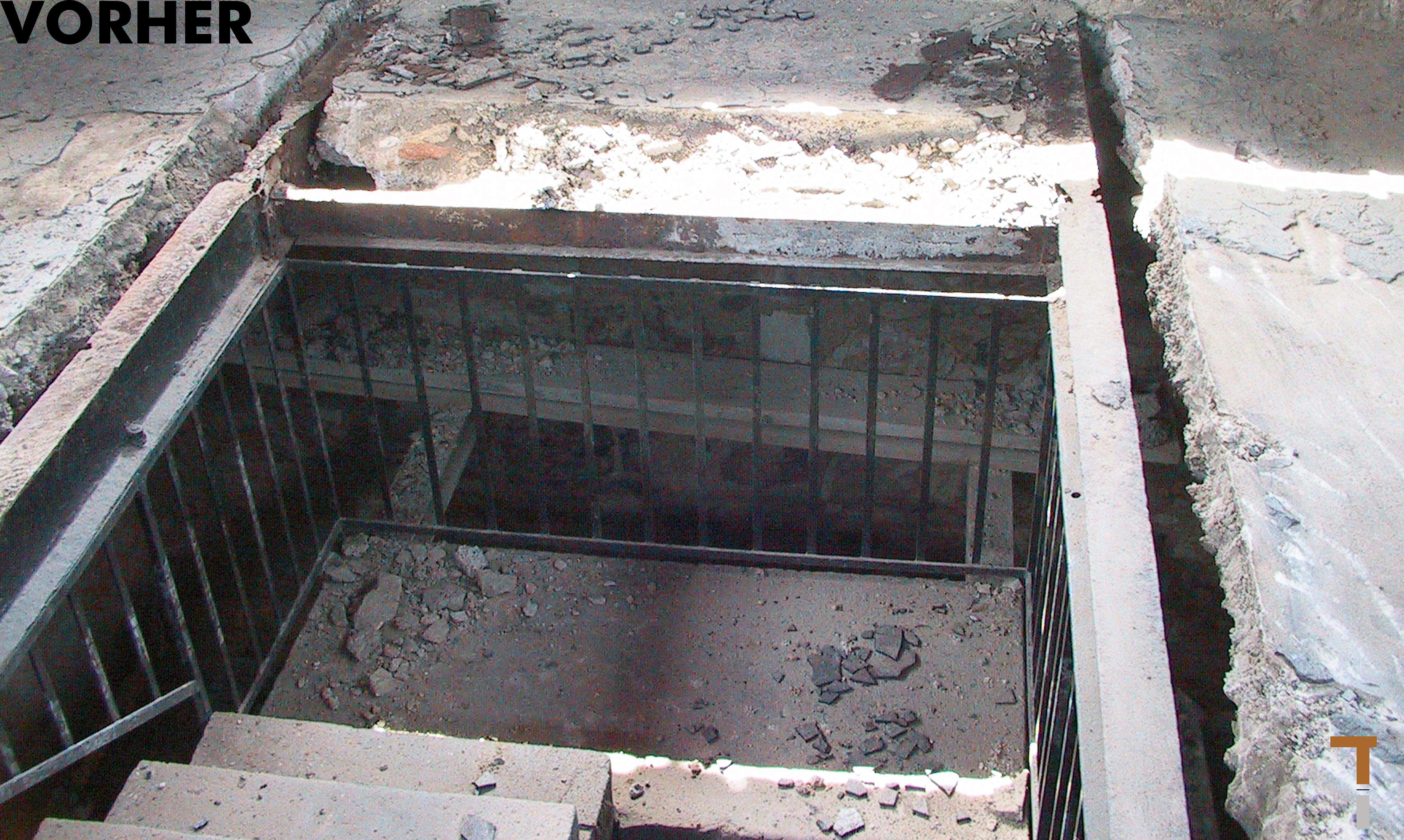 Aussichtsplattform vor der Sanierung