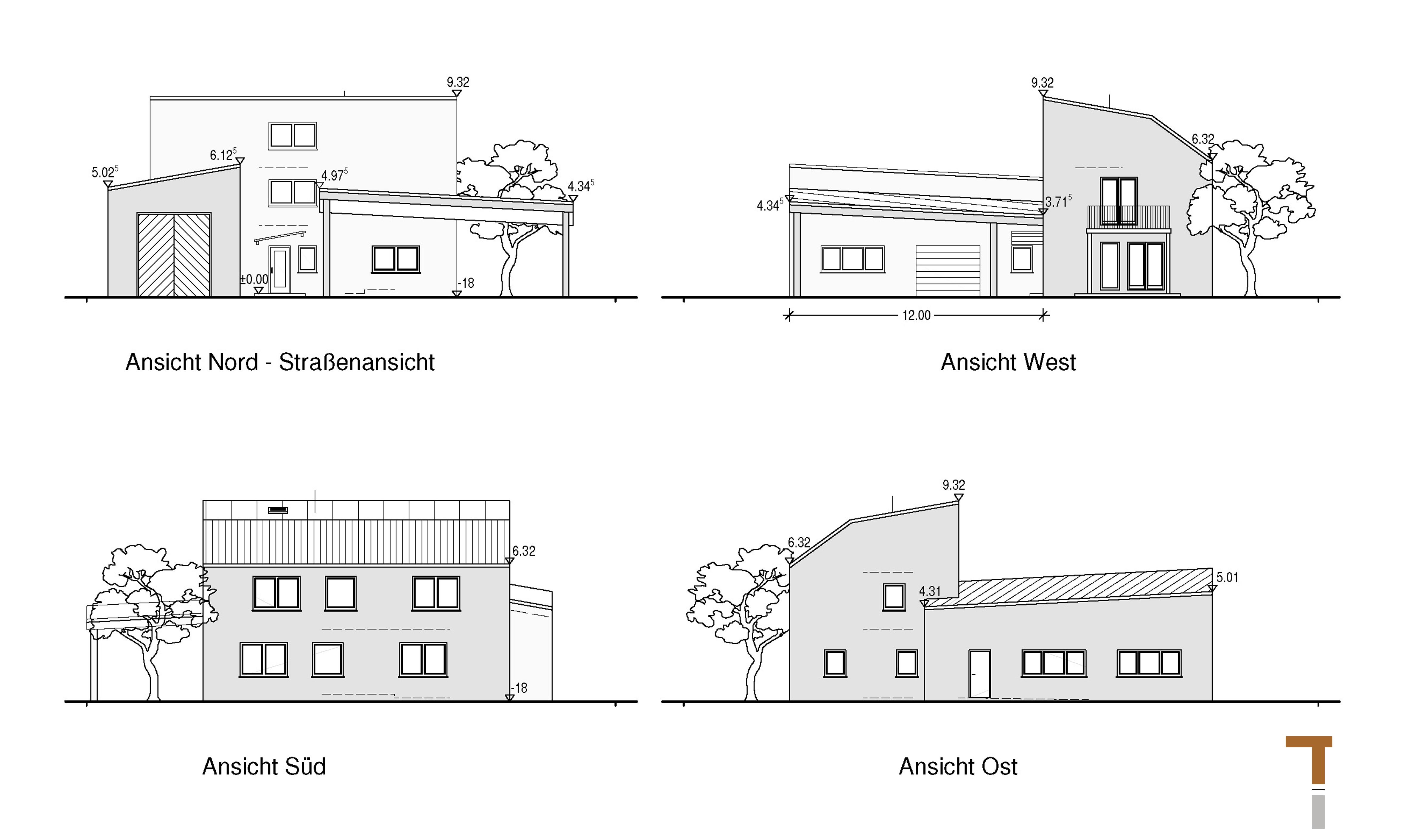 Kompaktes Wohnhaus (Entwurf)