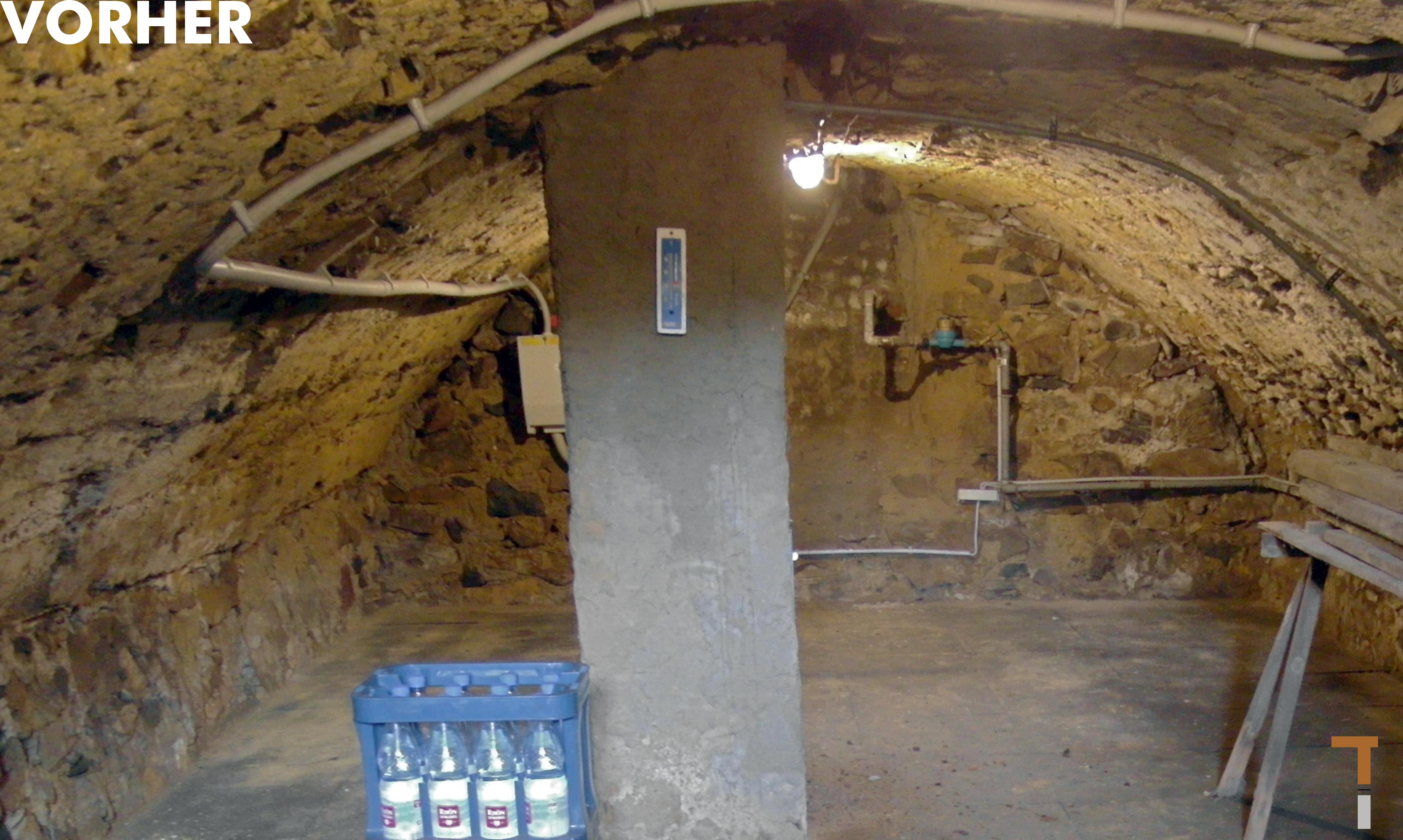 Gewölbekeller vor der Sanierung